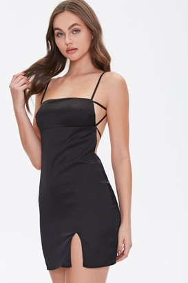 Forever 21 Satin Open-Back Dress