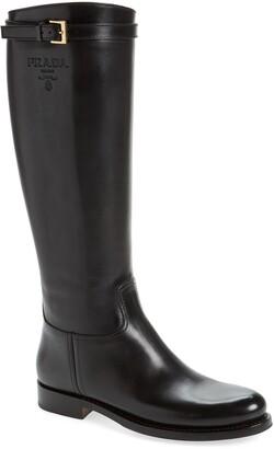 Prada Knee High Riding Boot