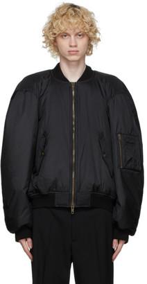 Balenciaga Black Steroid Bomber Jacket