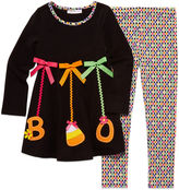 Bonnie Jean 2-pc. Boo Ornaments Top and Leggings Set - Toddler Girls 2t-4t