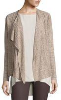 Eileen Fisher Draped Open-Front Linen Cardigan