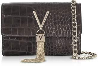 Mario Valentino Valentino By Audrey Croco Embossed Eco Leather Shoulder Bag