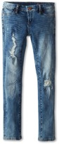Blank NYC Kids - Denim Ripped Skinny Jeans in Good Vibes Patch Girl's Jeans