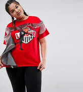Asos T-Shirt With Layered Ruffle And 90s Team Print