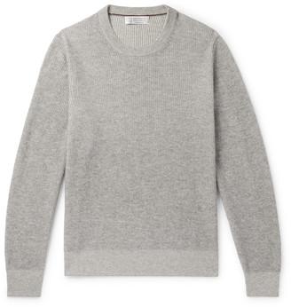 Brunello Cucinelli Ribbed Cashmere Sweater - Men - Gray