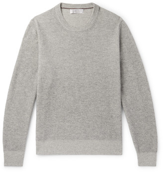 Brunello Cucinelli Ribbed Melange Cashmere Sweater