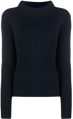 Societe Anonyme Wool Ribbed-Knit Jumper