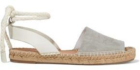 Rag & Bone Estelle Embossed Leather And Suede Espadrille Sandals