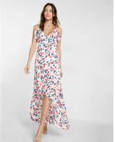 Express Ruffle Wrap Front Maxi Dress
