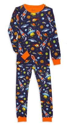 Hatley Little Boy's & Boy's 2-Piece Retro Rocket Long-Sleeve & Pants Set