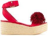 Muveil pom pom platform sandals - women - Leather - 38