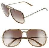 Chloé Women's 60Mm Gradient Lens Navigator Sunglasses - Brown
