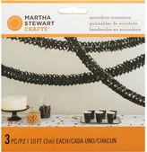 Martha Stewart M4820447 Black Accorn Garland-spooky Night (3pk)