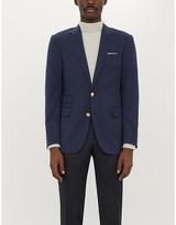 Ralph Lauren Purple Label Brand-embossed regular-fit wool blazer