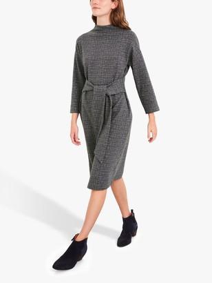 White Stuff Mirtha Tie Waist Geometric Print Shift Dress, Grey/Multi