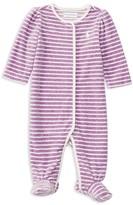 Ralph Lauren Infant Girls' Striped Velour Footie - Sizes 3-9 Months