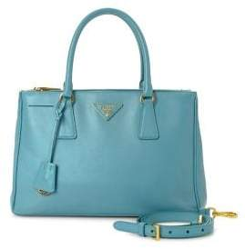 Prada Vintage Saffiano Galliera Double Zip Medium Tote Bag