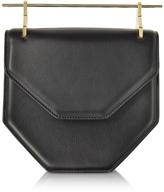 M2Malletier Amor Fati Black Leather Shoulder Bag