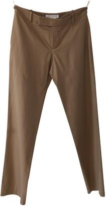 Chloé Camel Wool Trousers