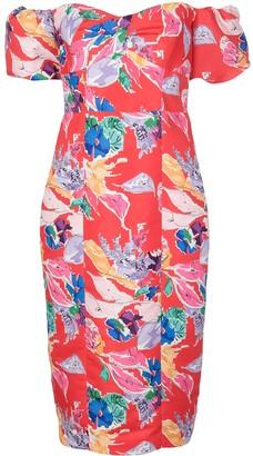 Milly Cara bouquet floral print dress