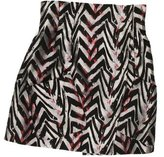 Zac Posen Zebra Pattern Mini Skirt