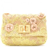 Emilio Pucci LACE AND BEAD ACCENTED CLUTCH