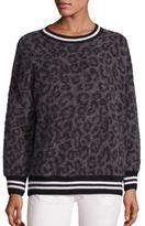 R 13 Leopard-Print Sweater