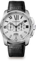 Cartier Calibre de Stainless Steel & Alligator Chronograph Strap Watch