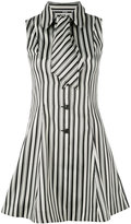 McQ by Alexander McQueen striped neck tie dress - women - Cotton/Polyester - 40
