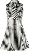 McQ striped neck tie dress