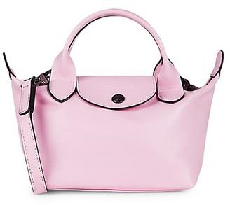 Longchamp Le Pliage Mini Leather Top Handle & Crossbody Bag