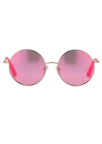 Matthew Williamson Neon Pink Round Revo Sunglasses