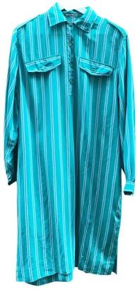 Non Signã© / Unsigned Non SignA / Unsigned Green Silk Dresses