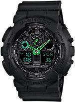 G-Shock Men's Analog-Digital Black Resin Strap Watch 51x55mm GA100C-1A3