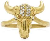 Logan Hollowell - Bull Skull Ring With Diamonds