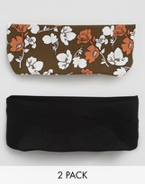 Asos Pack of 2 Printed Floral Turban Headbands