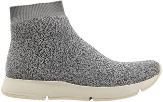 Vince Tyra Marled Stretch-knit High-top Sneakers