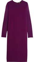 DKNY Paneled Stretch-Jersey And Mesh Dress