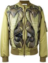 Givenchy cobra embossed bomber jacket