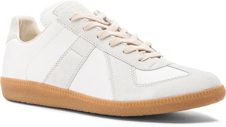 Maison Margiela Replica Calf & Lambskin Leather Sneakers in White | FWRD