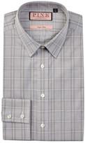 Thomas Pink Super Jones Slim Fit Glen Plaid Dress Shirt