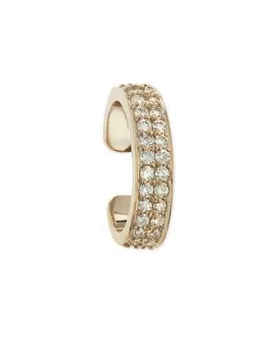 Anita Ko 18k White Gold Diamond Double-Row Ear Cuff, Each