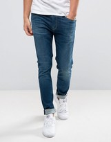 Pepe Jeans Nickel Slim Fit Jeans in Dark Wash