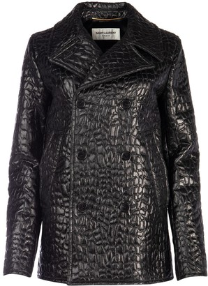 Saint Laurent Embossed Pea Coat