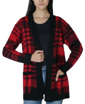 Ultra Flirt Juniors' Plaid Cardigan
