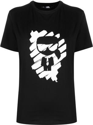 Karl Lagerfeld Paris Ikonik Graffiti cotton T-Shirt