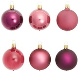 Bloomingdale's Shiny and Matte Purple Glass Ball Ornaments, Set of 6