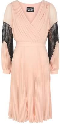 Moschino Blush Pleated Chiffon Dress