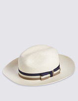 M&s Collection Handwoven Panama Hat