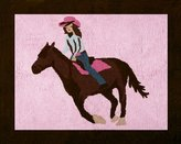 JoJo Designs Western Horse Cowgirl Accent Floor Rug by Sweet